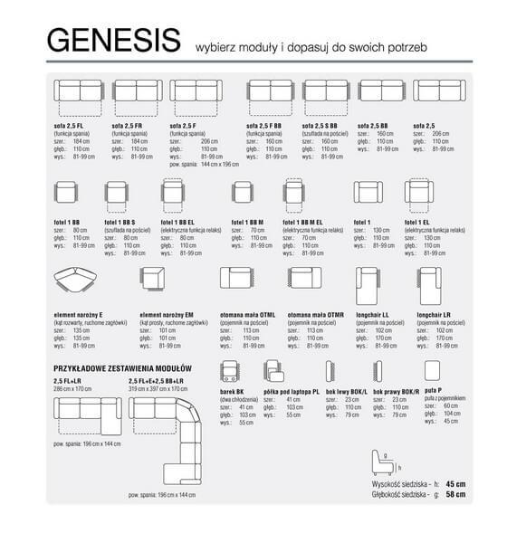 Elemnty Narożnik Genesis Feniks