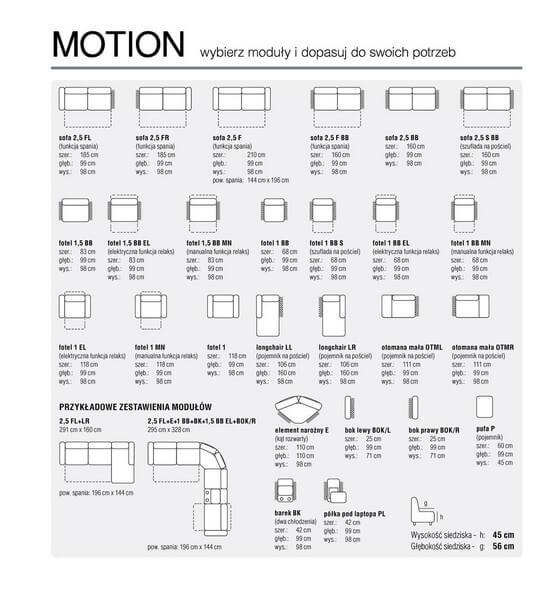Elementy kolekcji Motion Feniks