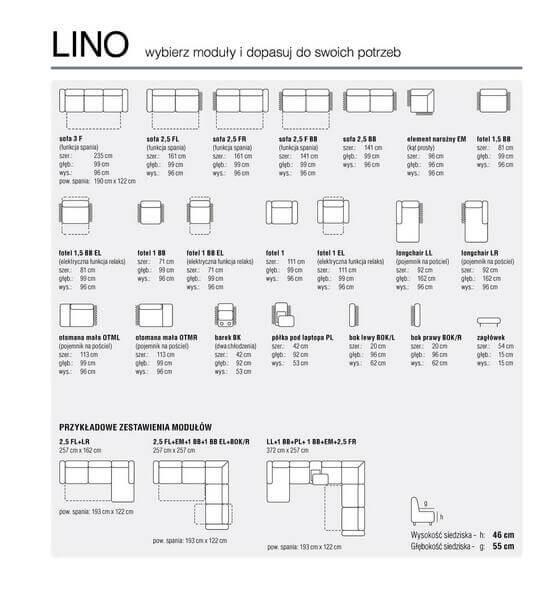 Moduły narożnika Lino Feniks