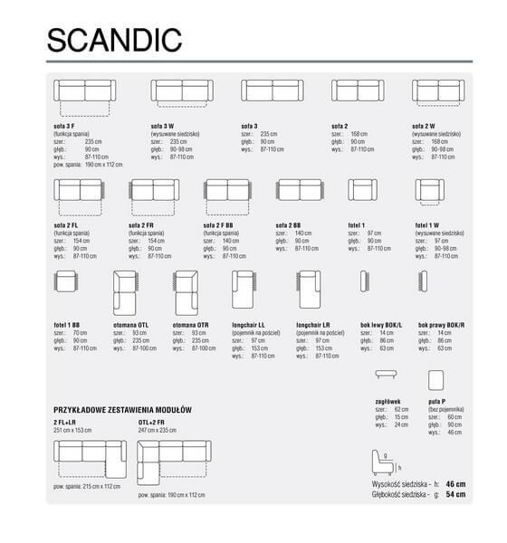 Moduły sofy Scandic Feniks