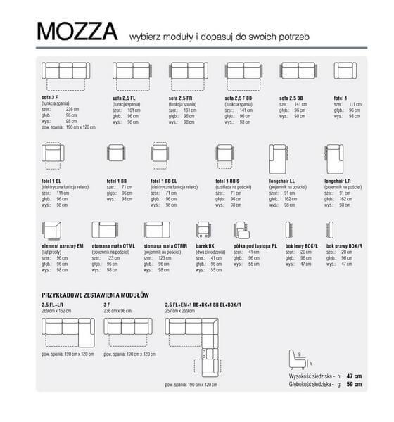 Moduły Narożnik Mozza Faniks