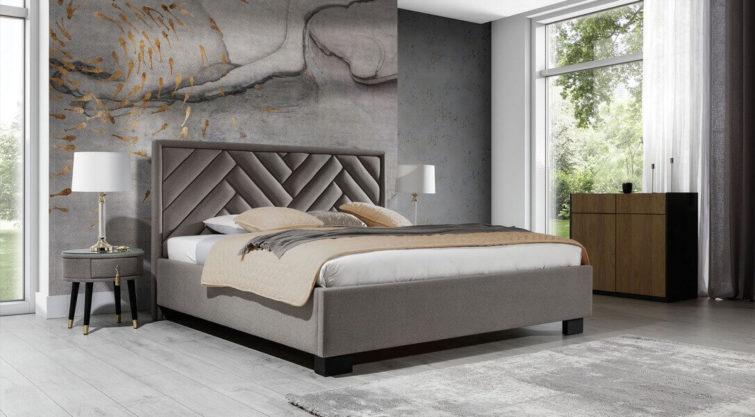 Łóżko PREMIUM z wezgłowiem 77