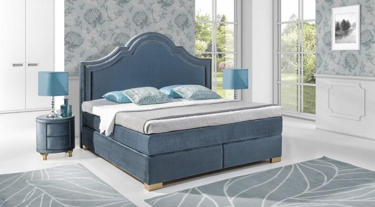 Łóżko KONTYNENTALE z wezgłowiem 900 o wysokości 165 cm