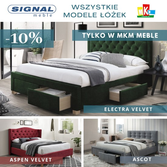 Signal meble promocja łóżek