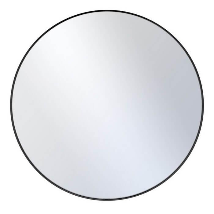 Lustro okrągłe Loft czarny