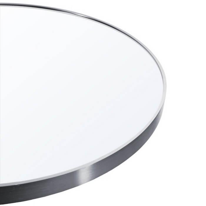 Lustro okrągłe Loft srebny