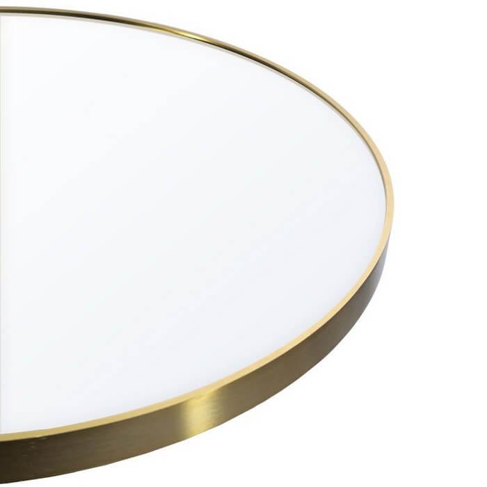 Lustro okrągłe Loft złoty