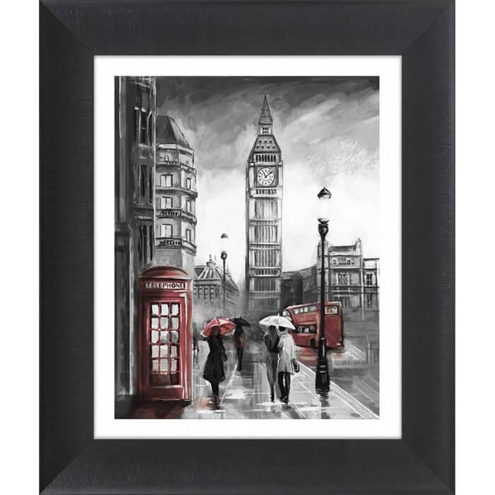 Obraz z budką telefoniczną na tle Londynu