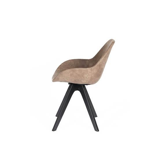 Krzesło z drewniaymi nogami Mariel