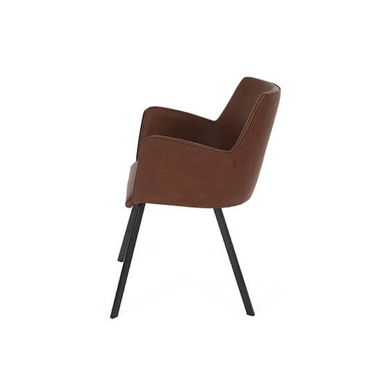 Krzesło Nancy nogi metalowe proste