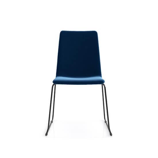Krzesło z metalowymi nogami Lara