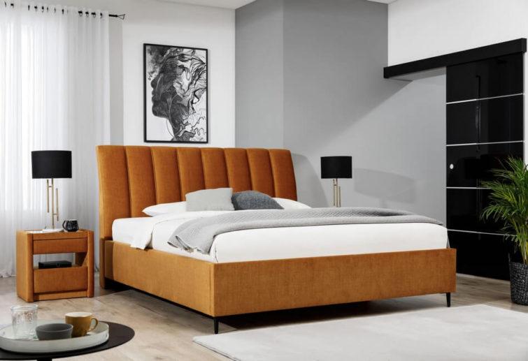 Łóżko tapicerowane Maya